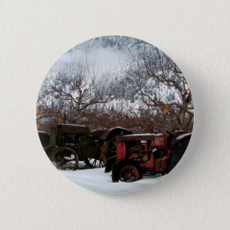 Keremeos Orchard in Winter Button