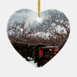 Keremeos Orchard in Winter Ceramic Ornament