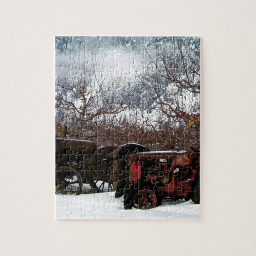 Zazzle Keremeos Orchard in Winter Jigsaw Puzzle