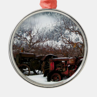 Keremeos Orchard in Winter Metal Ornament