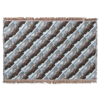 Keremeos Orchard in Winter Throw Blanket