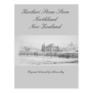 Kerikeri Stone Store, Northland, New Zealand Postcard