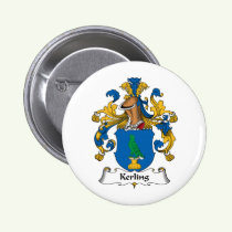 Kerling Family Crest Button