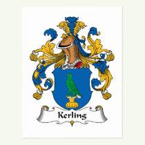 Kerling Family Crest Postcard