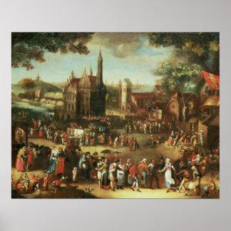 Kermesse at Avdenarde Poster