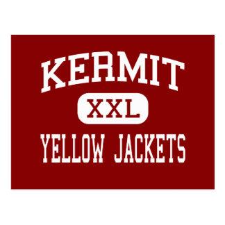 Kermit - chaquetas amarillas - alto - Kermit Tejas Postal