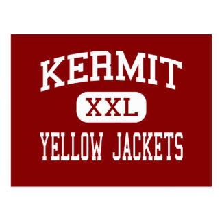 Kermit - chaquetas amarillas - joven - Kermit Teja Tarjeta Postal