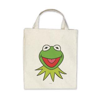 Kermit la cabeza del dibujo animado de la rana bolsas