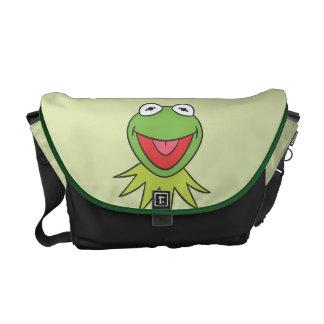 Kermit la cabeza del dibujo animado de la rana bolsas de mensajeria