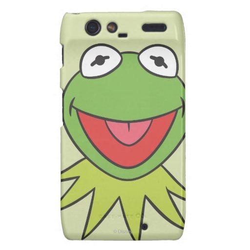 Kermit la cabeza del dibujo animado de la rana droid RAZR funda