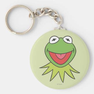 Kermit la cabeza del dibujo animado de la rana llavero redondo tipo pin