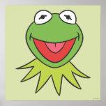 Kermit la cabeza del dibujo animado de la rana posters