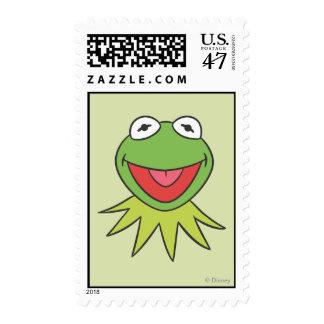 Kermit la cabeza del dibujo animado de la rana sello postal