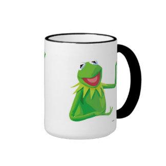 Kermit la rana con su boca Disney abierto Taza De Dos Colores