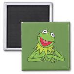 Kermit la rana imán cuadrado
