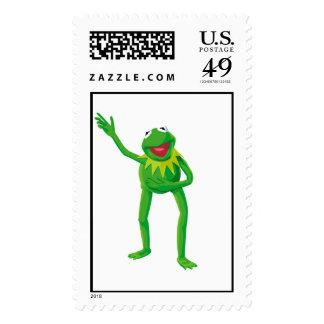 Kermit la rana que agita su mano Disney Sellos