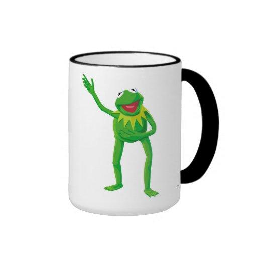 Kermit la rana que agita su mano Disney Taza