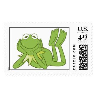 Kermit la rana que miente abajo Disney Sello Postal
