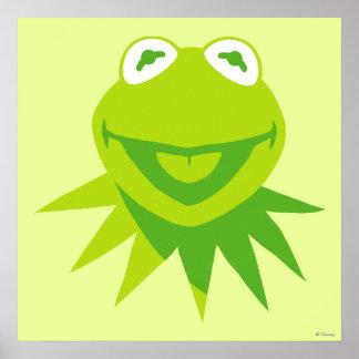 Kermit la sonrisa de la rana póster