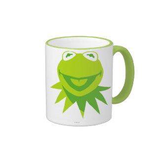 Kermit la sonrisa de la rana taza a dos colores