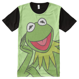 Kermit Laying Down All-Over Print T-shirt