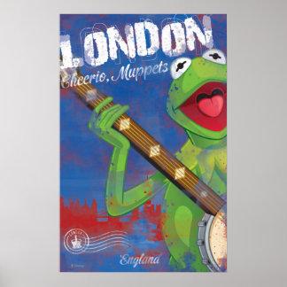Kermit - poster de Londres, Inglaterra