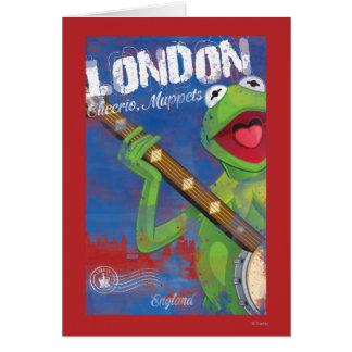 Kermit - poster de Londres, Inglaterra Tarjeta De Felicitación