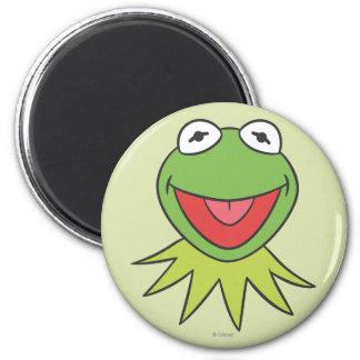 Kermit the Frog Cartoon Head 2 Inch Round Magnet