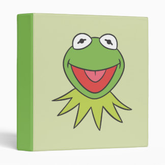Kermit the Frog Cartoon Head 3 Ring Binder