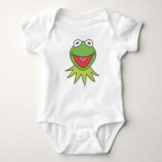Kermit the Frog Cartoon Head Baby Bodysuit