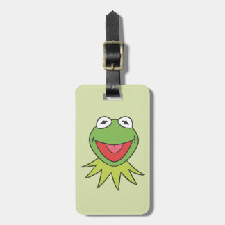 Kermit the Frog Cartoon Head Bag Tag