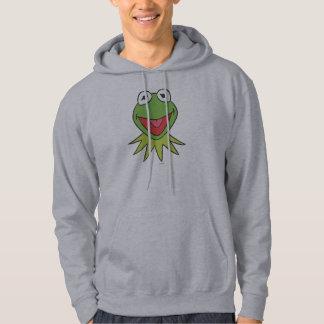 Kermit the Frog Cartoon Head Hooded Sweatshirt