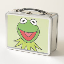 Kermit the Frog Cartoon Head Metal Lunch Box