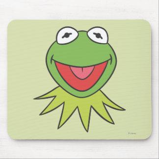 Kermit the Frog Cartoon Head Mouse Pad