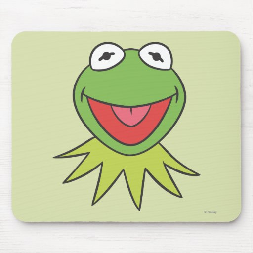 Kermit the Frog Cartoon Head Mousepads