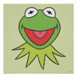 Kermit the Frog Cartoon Head Print