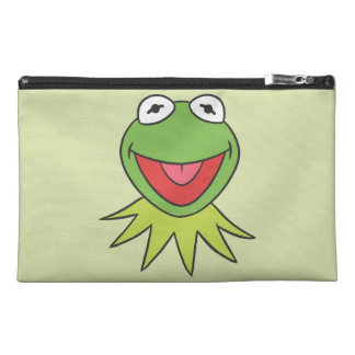 Kermit the Frog Cartoon Head Travel Accessory Bag