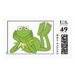 Kermit the Frog lying down Disney Postage Stamp
