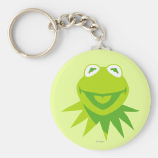 Kermit the Frog Smiling Basic Round Button Keychain