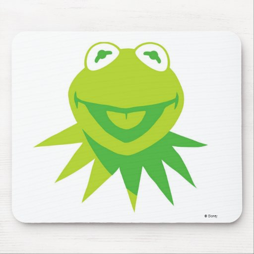 Kermit The Frog Smiling Disney Mouse Pads