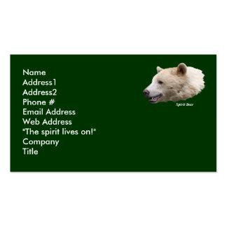 Kermode Bear Business Card
