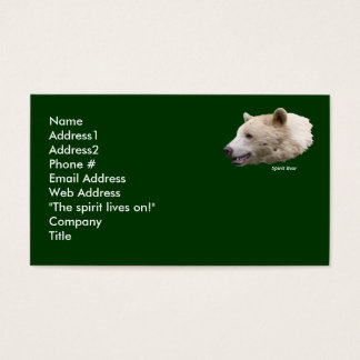 Kermode Bear Business Card