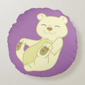 Kermode Bear Cub Round Pillow