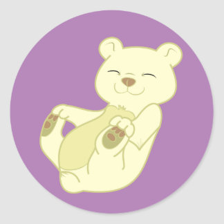 Kermode Bear Cub Classic Round Sticker