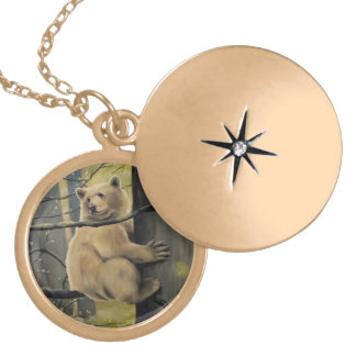 Kermode Bear Necklace Wildlife Art Bear Necklace
