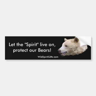 """Kermode (Spirit Bear) Wildlife Supporter Decal Bumper Sticker"