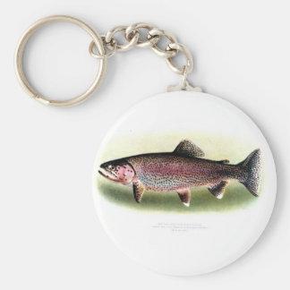 Kern River Trout Basic Round Button Keychain