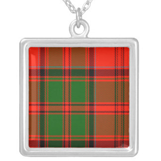 Kern Scottish Tartan Square Pendant Necklace