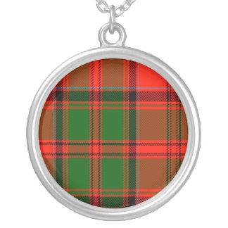 Kern Scottish Tartan Round Pendant Necklace
