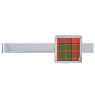 Kern Scottish Tartan Silver Finish Tie Clip